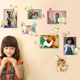 小芽兒 創意相框 第三代可移除牆貼~可重覆撕貼!在壁貼上DIY貼上喜歡的相片! 臥室飯廳客廳電視牆沙發背景/壁貼/壁紙