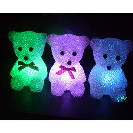 七彩變色小熊小夜燈  ◇/裝飾氣氛燈/婚禮小物