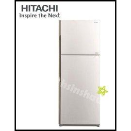 ~新邵~~HITACHI日立 RV439PWH~冰箱414L雙風扇變頻雙門 典雅白
