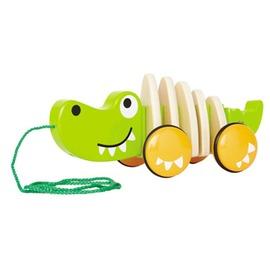德國 educo 愛傑卡 hape 愛派 木製玩具 鱷魚拉車