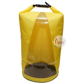 探險家戶外用品㊣HGL10 PVC貼布防水袋10L 透明/黃/黑 /戲水、泛舟、垂釣、溯溪、衝浪、海釣