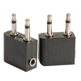 (飛機立體聲)航空耳機轉換插頭 3.5mm 音源孔/轉接頭 ( 金頭/銀頭 ) [JIM-00006]