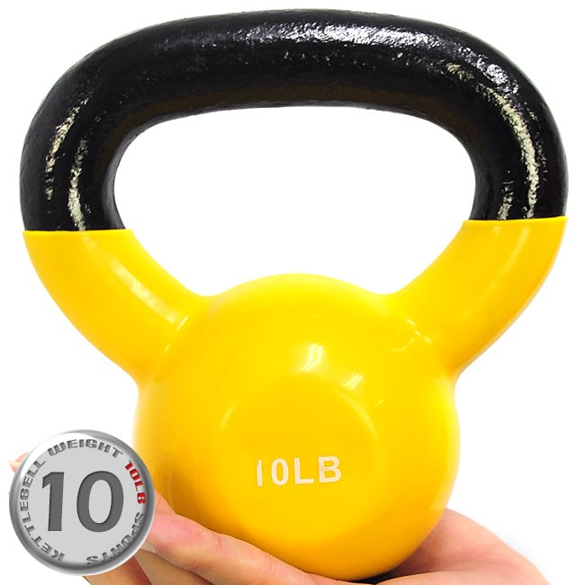 KettleBell包膠10磅壺鈴(橡膠底座) C113-2010 (浸膠10LB拉環啞鈴.搖擺鈴.舉重量訓練.運動健身器材.推薦)