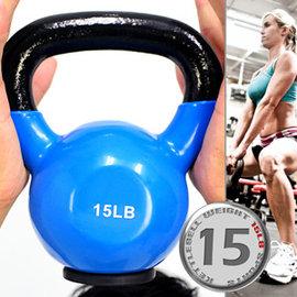 KettleBell包膠15磅壺鈴(橡膠底座) C113-2015 (浸膠15LB拉環啞鈴.搖擺鈴.舉重量訓練.運動健身器材.推薦)
