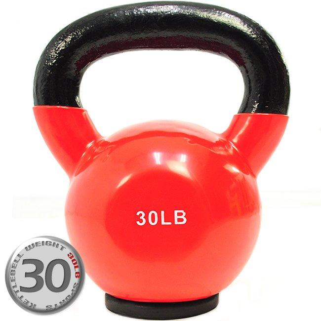 KettleBell包膠30磅壺鈴(橡膠底座) C113-2030 (浸膠30LB拉環啞鈴.搖擺鈴.舉重量訓練.運動健身器材.推薦)