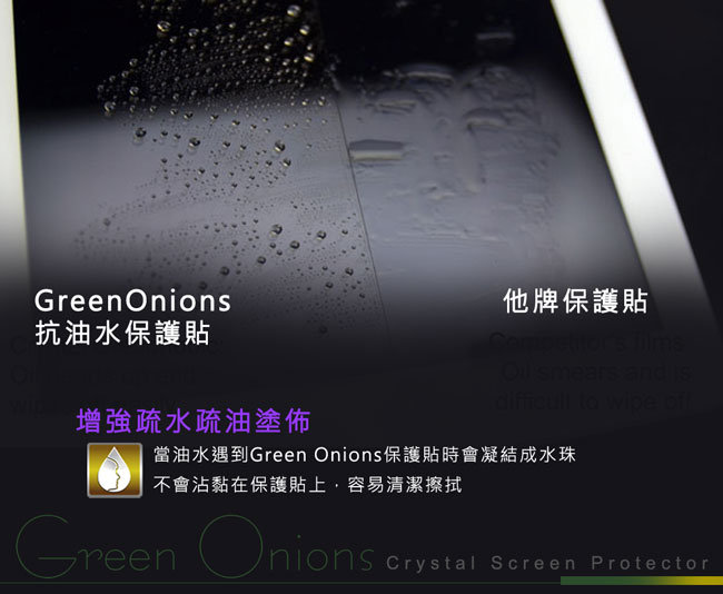 美國Green Onions Oleophobic Sony Xperia Z抗油水保護貼 圖示介紹2