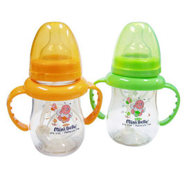mini  PES寬口和風自動把手奶瓶180ml