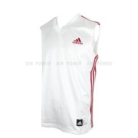 Adidas~CLIMALITE系列 男款排汗 籃球背心-白/紅 (P53006)