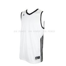 590元出清~Adidas~CLIMALITE系列 男款排汗 籃球背心-白/黑 (O22442)