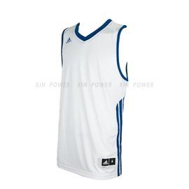 590元含運~Adidas~CLIMALITE系列 男款排汗 籃球背心-白/藍 (O22441)