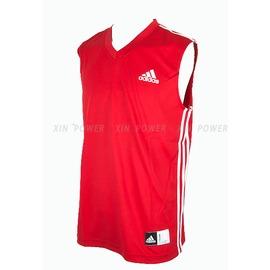 Adidas~CLIMALITE系列 男款排汗 籃球背心-紅/白 (P53005)