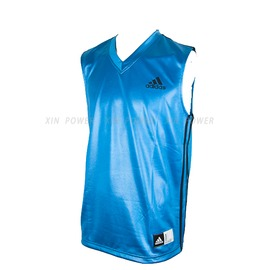 Adidas~CLIMALITE系列 男款排汗 籃球背心-藍/黑 (P53008)