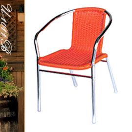 摩登藤鋁椅 P020-U-1011B (休閒藤椅子.造型藤編椅.咖啡籐椅.戶外椅.麻將椅.餐廳椅.庭園椅.傢俱家具傢具特賣會)