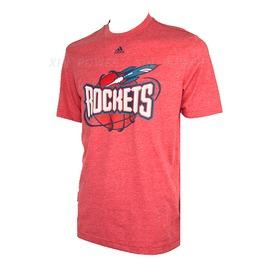 Adidas~男款 火箭隊棉質圓領衫-紅 (Z09752)
