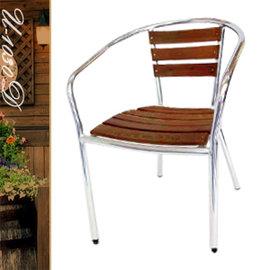 鋁柚木椅 P020-U-1030D (休閒木椅子.造型椅.咖啡椅.戶外椅.麻將椅.餐廳椅.庭園椅.傢俱家具傢具特賣會)