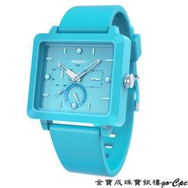 真愛金飾網~ELEGANT~Colorstyle 淺藍三眼 手錶 no.176543