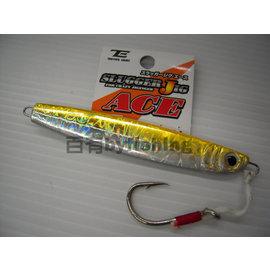 ◎百有釣具◎日本品牌TACTICS ENJOY 鐵板路亞假餌  附魚鉤規格80g