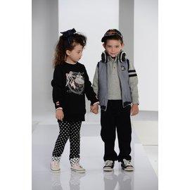 BABY KING 2215刷毛長版衣 黑色 90cm~140cm