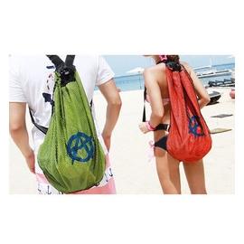 EmmaGarden 05606~2 網眼雙肩包 收納包 游泳 包 束口袋 情侶背包旅行包