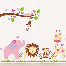 壁貼 ~ 歡樂動物園