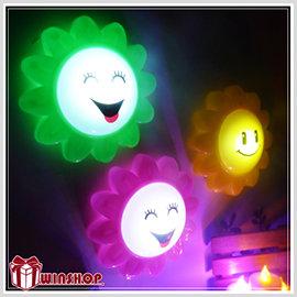 【winshop】A1686 向日葵拍拍燈/按拍燈 掛燈 小夜燈 居家擺飾最佳燈飾 小花拍拍燈 最佳贈品禮品