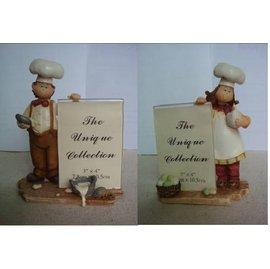 新品 相框居家蛋糕房西餐廳酒店飯店裝飾品裝飾擺件廚師人物擺件樹脂工藝品