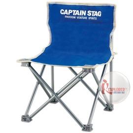 探險家戶外用品㊣M-3916 CAPTAIN STAG 日本鹿牌班比迷你野營椅-藍 休閒椅/導演椅(附收納袋)