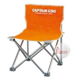 探險家戶外用品㊣M-3918 CAPTAIN STAG 日本鹿牌班比迷你野營椅-橘 休閒椅/導演椅(附收納袋)