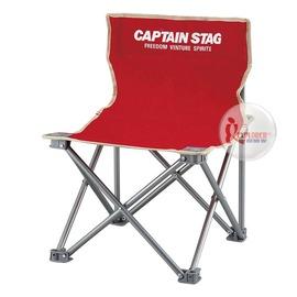 探險家戶外用品㊣M-3919 CAPTAIN STAG 日本鹿牌班比迷你野營椅-紅 休閒椅/導演椅(附收納袋)