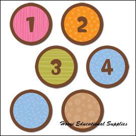 ~CTP~1498 ~Dots on Chocolate Calendar Days 月曆