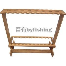 ◎百有釣具◎孟宗竹製釣竿展示架 24+8~可收納 32支釣竿