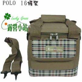 大林小草~【K9-RQ-28QC】陸大POLO 16罐裝保溫袋,保冰袋,保冷袋(咖)