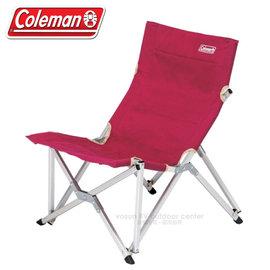 【美國Coleman】鋁合金帆布樂活椅.躺椅.折疊椅.休閒椅.太師椅.野餐椅.露營椅.折疊椅.導演椅/附收納袋/CM-3111 葡萄紅