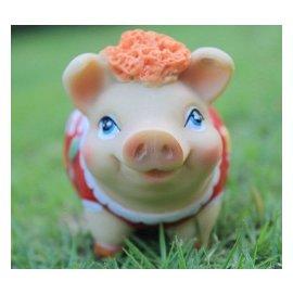 新品彩色小豬擺件可愛工藝品擺設 生肖樹脂豬飾品擺件 卡通豬家居飾品