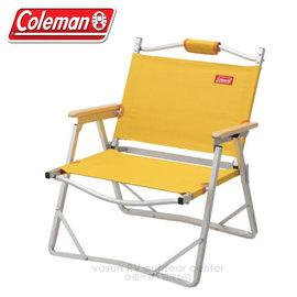 【美國Coleman】輕薄摺疊椅.鋁合金休閒椅.折疊椅.導演椅.折合椅.野餐椅.露營椅/ CM-F508 黃