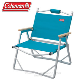 【美國Coleman】輕薄摺疊椅.鋁合金休閒椅.折疊椅.導演椅.折合椅.野餐椅.露營椅/ CM-F509 藍(缺貨中)