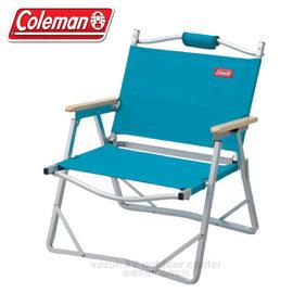 【美國Coleman】輕薄摺疊椅.鋁合金休閒椅.折疊椅.導演椅.折合椅.野餐椅.露營椅/ CM-F509 藍