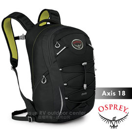 【美國 OSPREY】Axis 18L 城市穿梭電腦背包. 24seven全天候系列後背包.電腦包.書包/出差.健行.旅行.跑步/黑 R