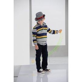 BABYKING 2297條紋上衣^(灰色^)100cm^~150cm