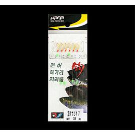 ◎百有釣具◎POKEE太平洋HANA  海タサビキ 魚皮仕掛~4~8號可選