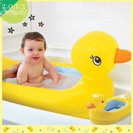 黃色小鴨 小鴨嬰兒浴盆/充氣洗澡盆/浴缸/泳圈.沙灘玩具【HH婦幼館】