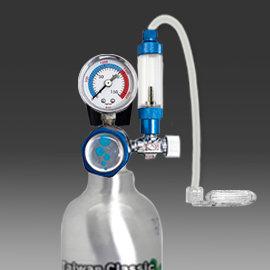 CO2自動減壓單錶 單止逆計泡組 鋁瓶1L側開~惠弘
