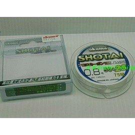 ◎百有釣具◎OKUMA 新改版 MFG 米諾克 SHOTAI 水態 卡夢/碳纖子線75米 規格4號