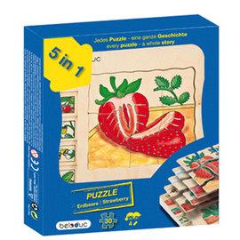 Beleduc多層木拼圖 草莓