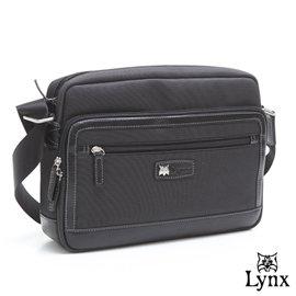 Lynx ~ 山貓 款沉著品味橫式機能型側背包~共2色