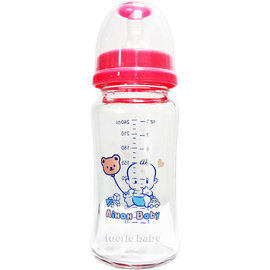 愛儂寶貝晶鑽寬口玻璃奶瓶240ml