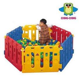 【紫貝殼】『SL05-1』【CHING-CHING親親】(PY-01)紅藍黃遊戲圍欄/柵欄(沒有門/不含小球)(6片裝)