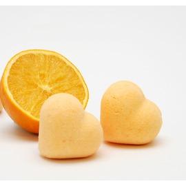 香橙心型香氛氣泡沐浴球