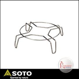 探險家戶外用品㊣ST-9304 日本製SOTO 不鏽鋼荷蘭鍋鍋架 鍋蓋架 置物架 可搭配ST-930使用