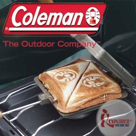 探險家戶外用品㊣CM-9435 美國Coleman日式三明治烤盤(附收納袋)雙份鬆餅夾/三明治夾/烤派夾
